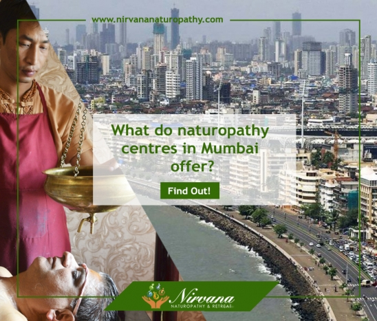 What do naturopathy centres in Mumbai offer?