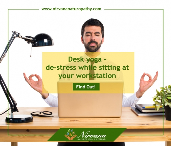 Desk yoga – de-stress while sitting at your workstation!
